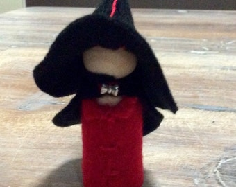 Felt gnome peg doll