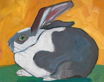 rabbit Original Oil Painting