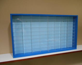 Display case cabinet for 1/64 diecast scale cars (hot wheels, matchbox) - 80NBB-2