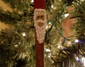 Santa Clause Cinnamon Stick Christmas Ornament