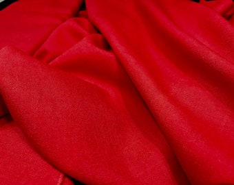 Cherry Red Wool, Bright Red Fabric, Upholstery Fabric, Red Fabric, Bright Red Fabric, Red Wool, Wool Fabric, Red Material