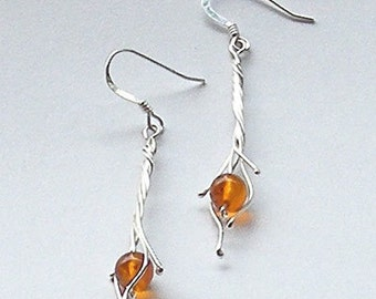 Baltic Amber Earrings by Arcturus Jewellery
