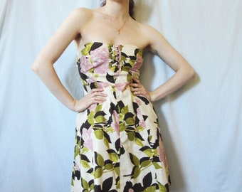 90s Inspired Floral Dress With Pockets S