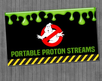 Ghostbuster Silly String Labels