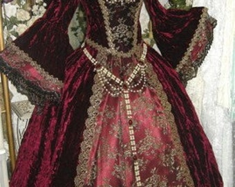 Gothic Renaissance or Medieval Fantasy Wedding Set Custom