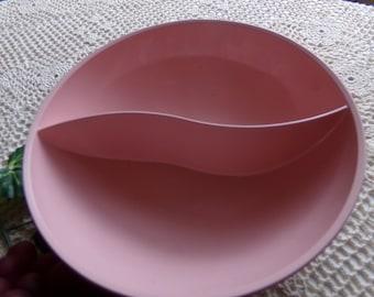 Genuine Melmac - Pink Ovation Divided Serving Bowl (1950\u0027s) & Melmac serving bowl | Etsy