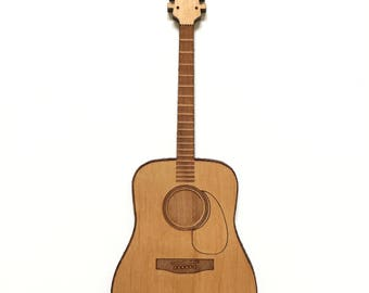 Acoustic Guitar Wood Magnet