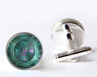 Jade Mechanical Eye Cuff links