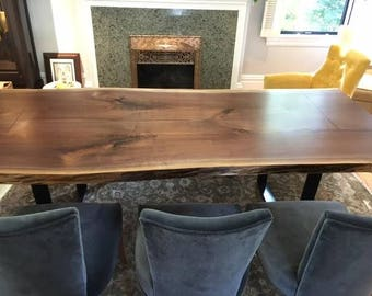 Live Edge Harvest Table, Live edge Dining Table, Handcrafted Reclaimed Wood Furniture - We ship worldwide