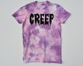 Aesthetic Kawaii LGBT Creep Pastel Pink Tie Dye Cute T-shirt Pastel Goth Hipster Indie Hype Mens Womens Kawaii Clothing Nu Goth
