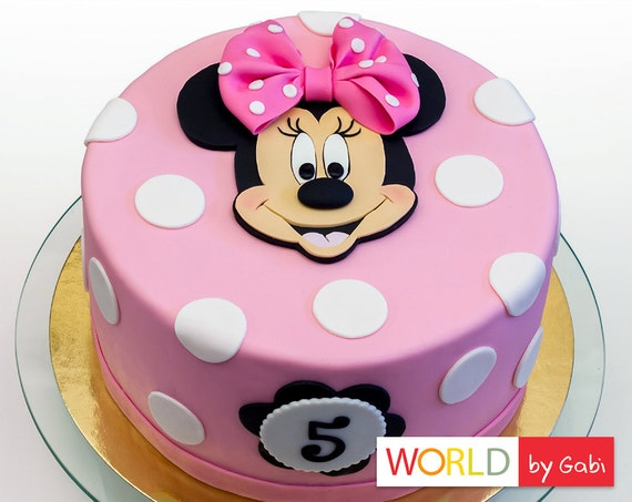 Minnie Mouse Cake Topper Minnie Mouse Fondant Minnie Mouse Cake