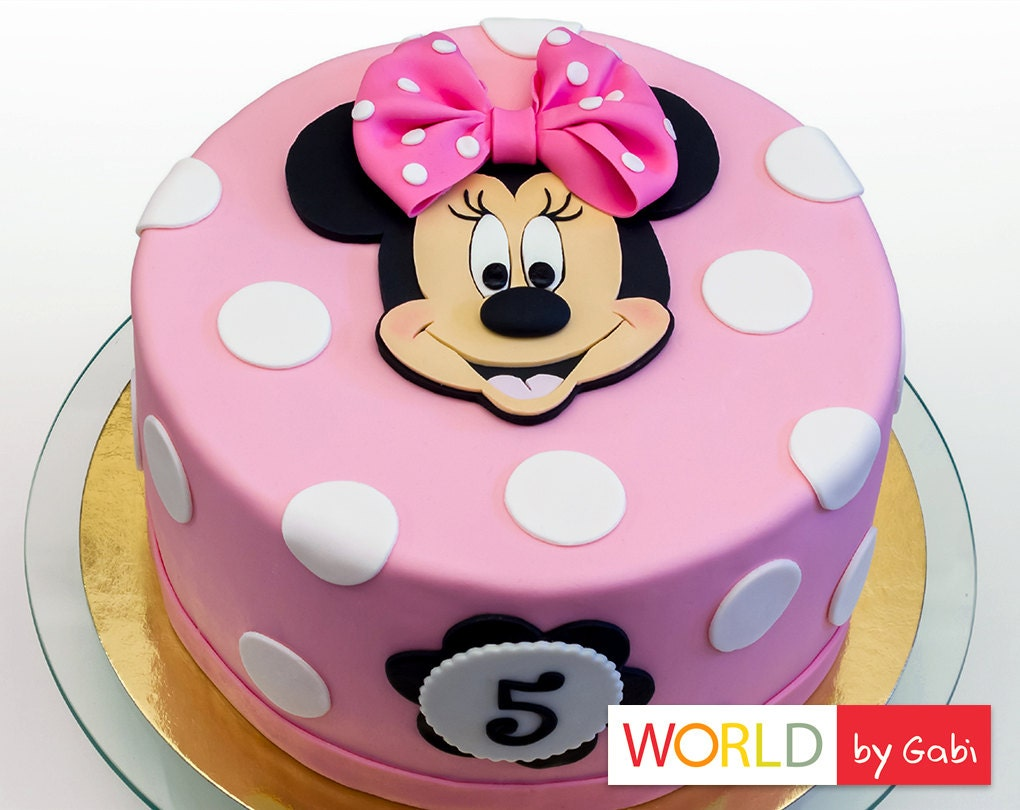 Minnie Mouse Cake Topper Minnie Mouse Fondant Minnie Mouse