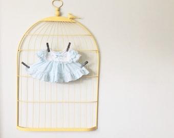 Vintage Pale Blue Dress (Size Preemie)