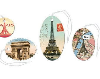 SALE Paris Monuments Glittered Gift Tags gift tags Cavallini