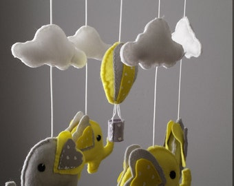 Ready to ship Elephant Mobile - Hot Air Balloon Mobile