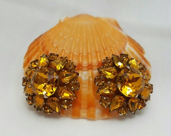 Topaz Rhinestone Earrings
