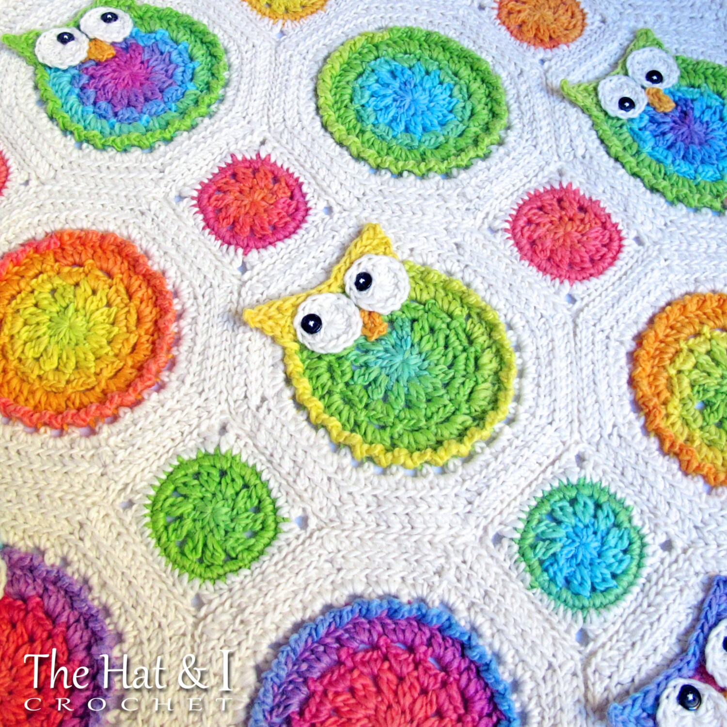 Crochet pattern owl obsession a colorful owl afghan zoom bankloansurffo Image collections