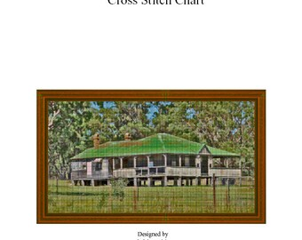 GREENROOF HOUSE - Cross Stitch Chart