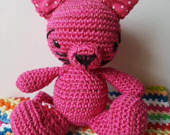 Kitty Cat - Crochet Pink Cat Toy