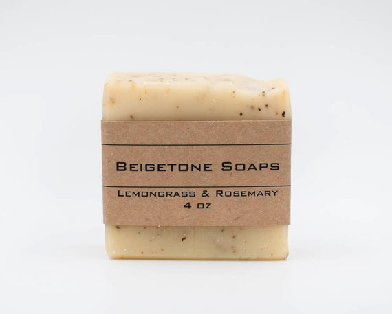 Lemongrass and Rosemary | 4oz | Insect Repelling Essential Oil Bar
