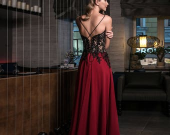 Evening dress prom dress formal gown ''Maren'' from NYC Bride, made in Europe