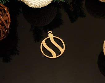 Bauble Christmas Decoration 3mm MDF
