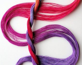 "Size 80 ""Corsage"" hand dyed thread 6 cord cordonnet tatting crochet cotton"