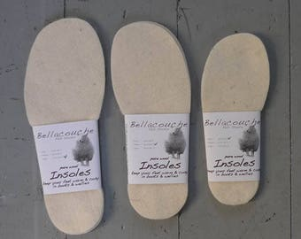 Wool insoles