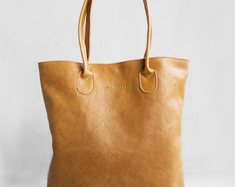 The Essential Tote in Camel/ Leather Tote Bag  /Camel Brown Tote Bag /Tote Bag /Women's Handbag /Brown Leather Tote / Leather Handbag