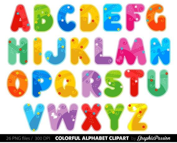 alphabet clipart color alphabet digital alphabet letters color rh etsy com alphabet clipart tools alphabet clipart png