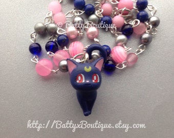 Luna // Moon Cats // Sailor Moon // Beaded Necklace