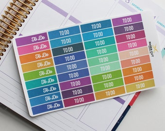 Planner Stickers - TO DO HEADER