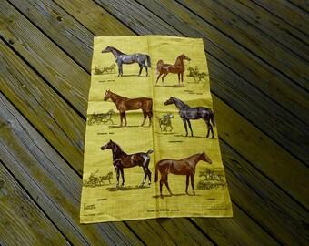 Horses Sam Savitt Tea Towel/Horses Tea Towel Irish Linen/Horses by Ulster/Sam Savitt Horses/Linen Horse Tea Towel/Sam Savitt Horse Towel