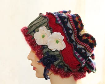 Old Times Wool Hat, Womens Hat, Romantic Hat, Vintage Accessories, Retro Hat, Warm Hat,Victorian hat