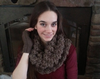 Outlander inspired cowl scarf super chunky thick knit, made to order choice of colors