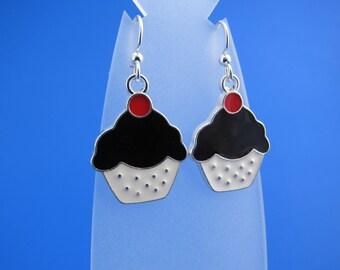 Enamel Cupcake Earrings