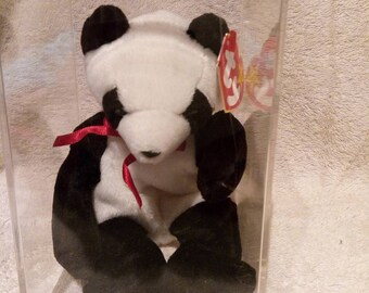 Beanie Babies - Ty - Fortune - 1998 - Black & White - New - With Tag Errors Mint