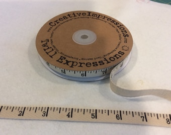 Antique Tape Measure - Twill - By Creative Impressions - 25 Yard Roll - 13.50 Dollars - 1/2 inch wide