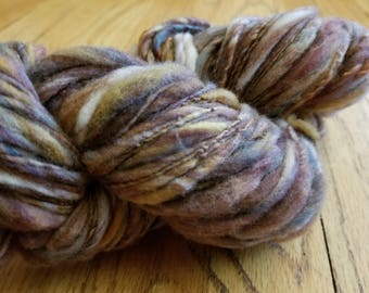 Hand dyed and hand spun merino yarn