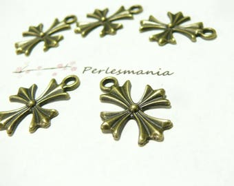 10 charms cross bronze ref 2D1720