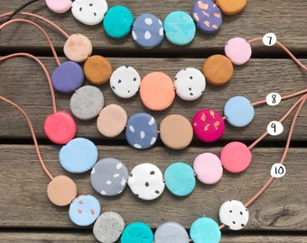 Splat handmade bead necklace