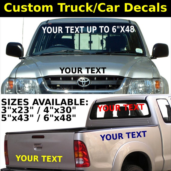 Custom truck car vinyl decal stickers lettering letters usdot