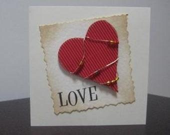 Handmade Valentine / Wedding / Love Card