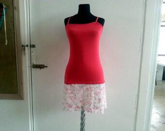 Lace shirt extender Lace Top Extender, Red Shirt Extender, Slip Extender,