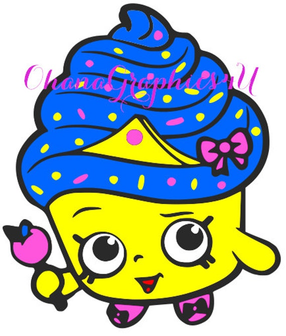 Shopkins Inspired Cupcake Queen SVG