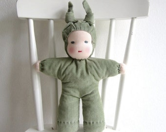 Waldorf doll sewing tutorial, sewing pattern, PDF file, instant download
