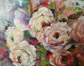 The beauty of peonies   (does NOT include decorative frame)