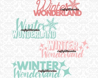 Winter Wonderland Christmas SVG STUDIO Ai EPS Scalable Vector Instant Download Commercial Use Cutting FIle Cricut Silhouette