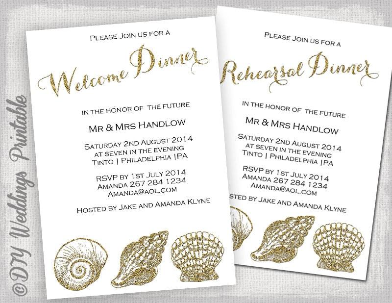 Rehearsal Dinner invitation template welcome dinner invite
