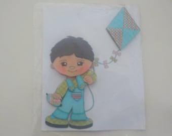 Handmade 3d Toddler Boy Scrapbook Die Cut